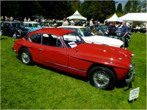 Jensen Interceptor at the Vancouver All British Field Meet at VanDusen Garden.