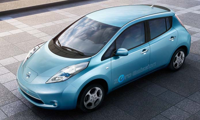 Nissan LEAF (Leading, Environmentally friendly, Affordable, Family car).