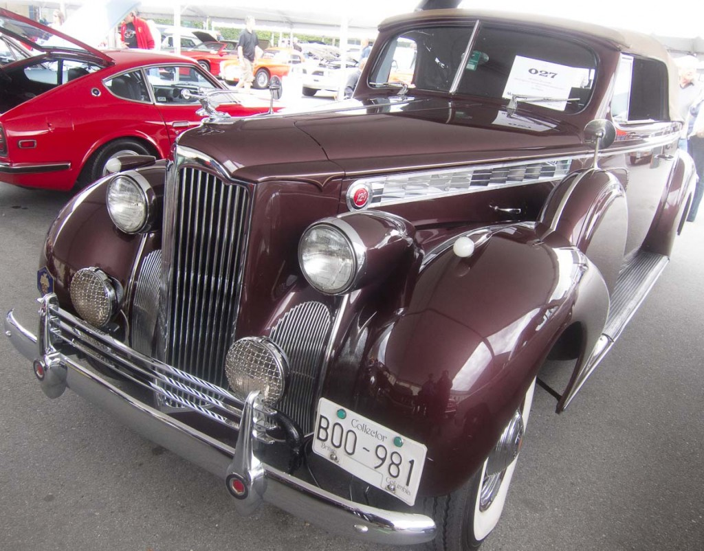 1940 Packard 120 Convertibhle. High bid of $25,000.