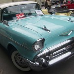 1957 Chevrolet Belair. Sold at $10,600.