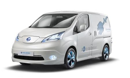 Nissan E-NV200 van.