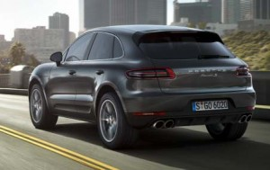 2014 Porsche Macan rear view.