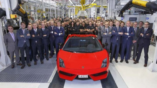 End of production for the Lamborghini Gallardo.