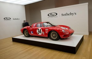 The top-selling 1964 Ferrari 250 LM set a record price of $14,300,000.