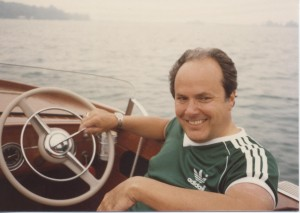 Frank Hagerty on the water.