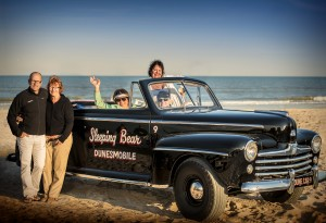 Frank Hagerty with his Family and Dunesmobile number 9.