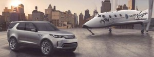 Land Rover Sport Discovery Concept with Virgin Galactic spacecraft.