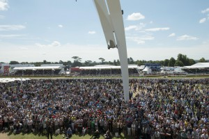 Goodwood crowd awaits the appearance of British F1 driver Lewis Hamilton.