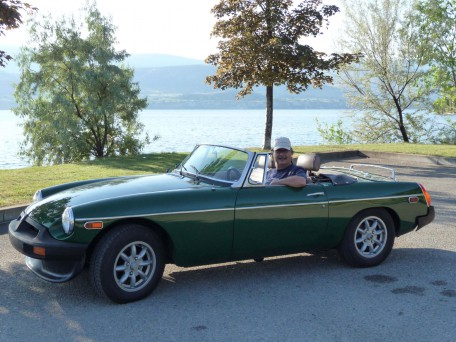 John Stanichak with his 1980 MGB Roadster.