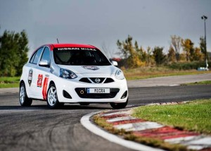 Nissan Micra Cup uses race-ready versions of the 2015 Nissan Micra to bridge the gap between karting and racing.