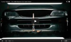 """Luxury Defined"" 1996 Nissan Maxima GLE Sport Sedan."