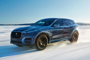 Jaguar F-PACE being tested in extreme cold conditions in Northern Sweden.