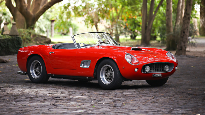 The 1961 Ferrari 250 GT SWB California Spider. Estimated value US$15-$17-million. Image copyright and courtesy of Gooding & Company. Photo by Mathieu Heurtault.