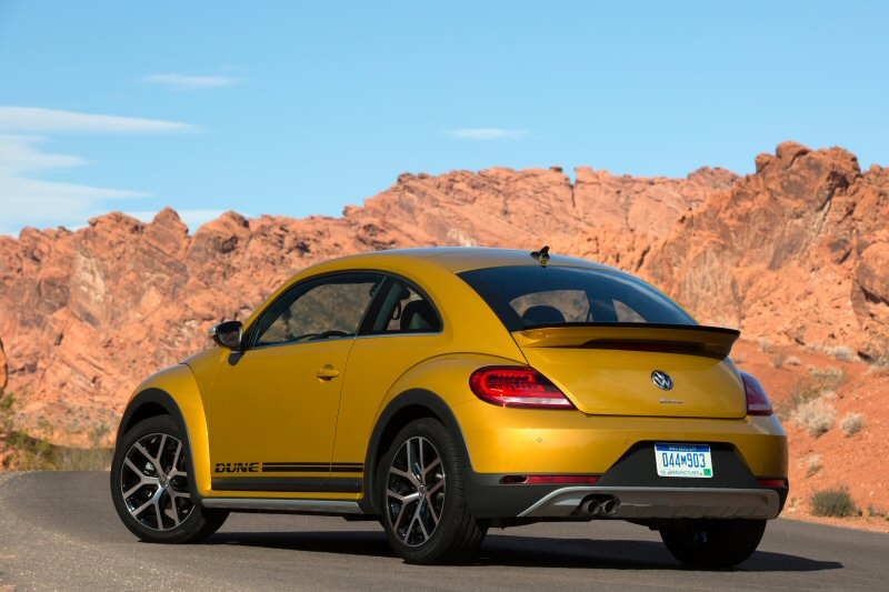 VW's 2016 Dune Buggy comes in a choice of Sandstorm Yellow, Pure White, or Deep Black.