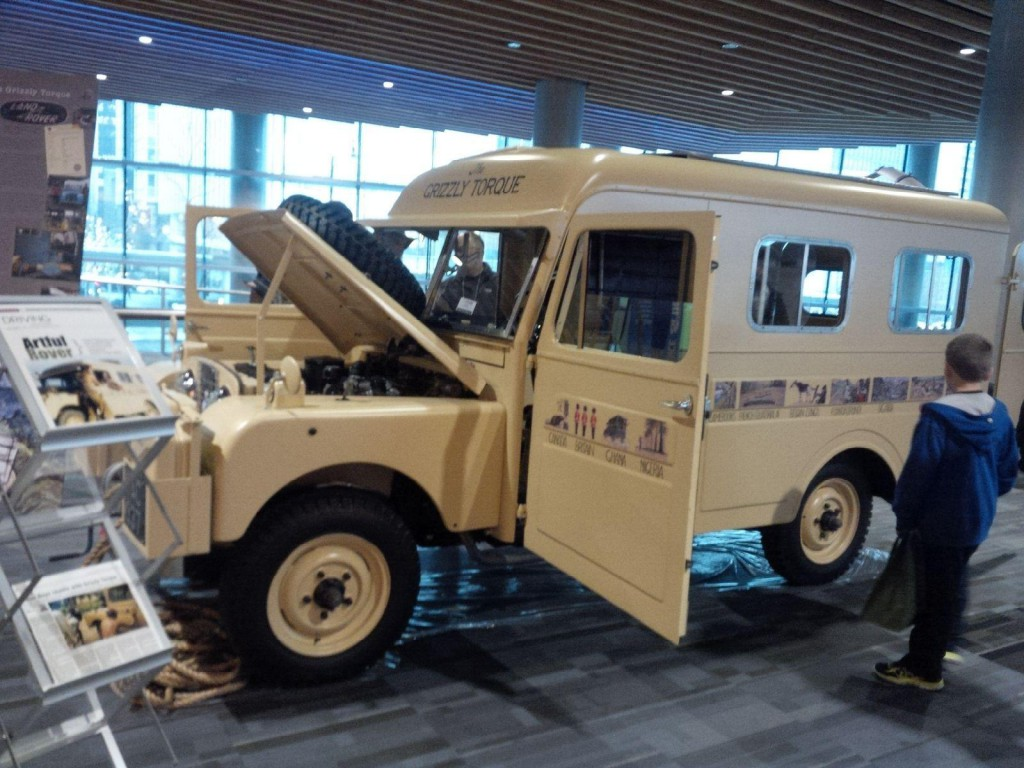 """Grizzly Torque"" Land Rover Series 1, which was driven by Robert Bateman and Bristol Foster."