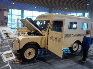 """""""Grizzly Torque"""" Land Rover Series 1, which was driven by Robert Bateman and Bristol Foster."""
