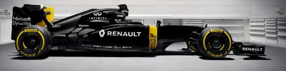 Renault Sport team car for 2016 F1 season.