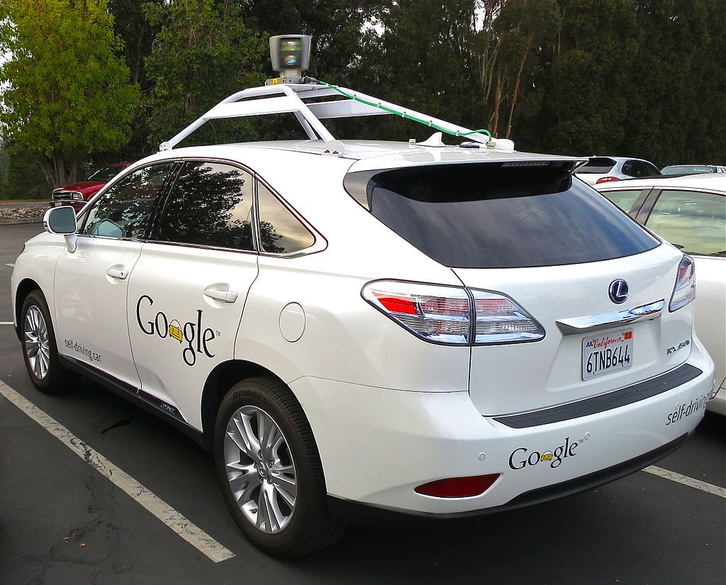 Lexus RX450h retrofitted by Google for its driverless car fleet.
