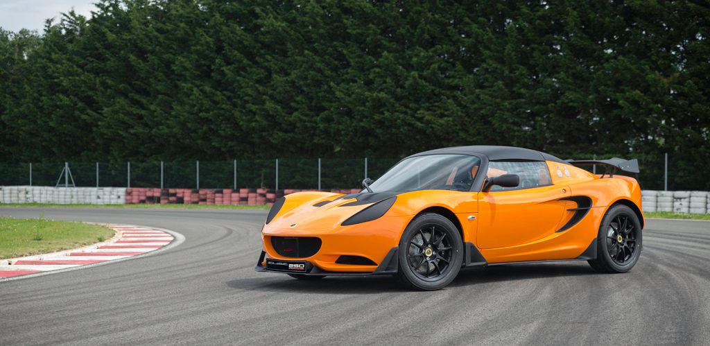 The Lotus Elise Race 250 is 0.5 seconds quicker than the previous Elise Coup 220 R.
