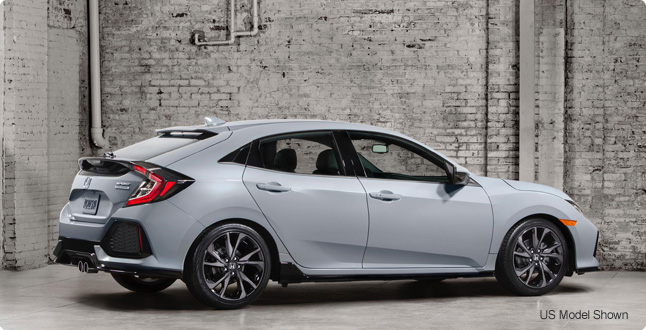 All-new 2017 Honda Civic Hatchback.