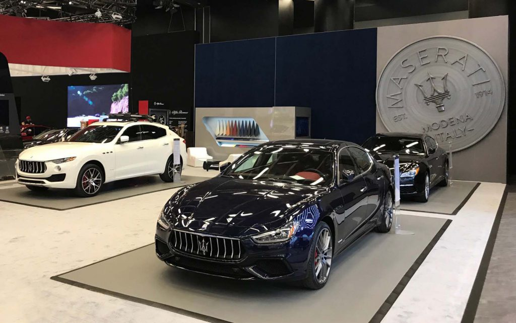 Maserati North America Stand at Montréal Auto Show 2018. Photo: courtesy Maserati Canada.