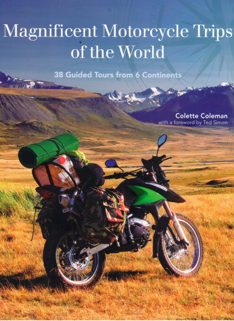 "Cover: ""Magnificent Motorcycles Trips of the World."""