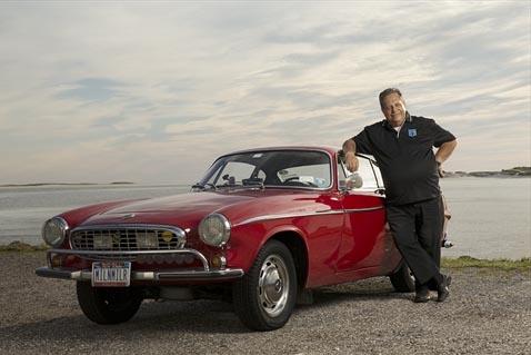 Irv Gordon with his 1966 Volvo P1800.