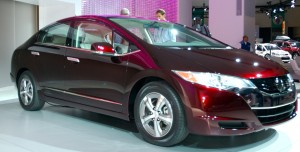 The Honda FCX Clarity electric car offers 5-minute refueling times and long range in a full function large sedan.