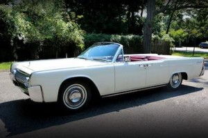 The Lincoln Continental used to transport the Kennedys in from Forth Worth to Dallas, Texa in 1963 sold for $318,000.