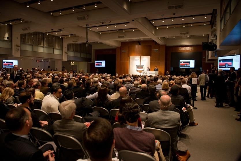 the packed auction room at RM Auctions and Sotheby's Art of the Automobile sale (Photo Credit Darin Schnabel © 2013 Courtesy of RM Auctions)