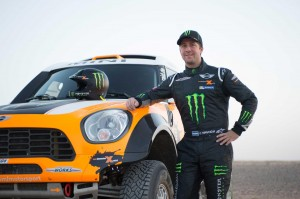 Stephane Peterhansel with his MINI All4 Racing vehicle. Peterhansel made his Paris Dakar Rally debut in 1988 in the motorcycle category.