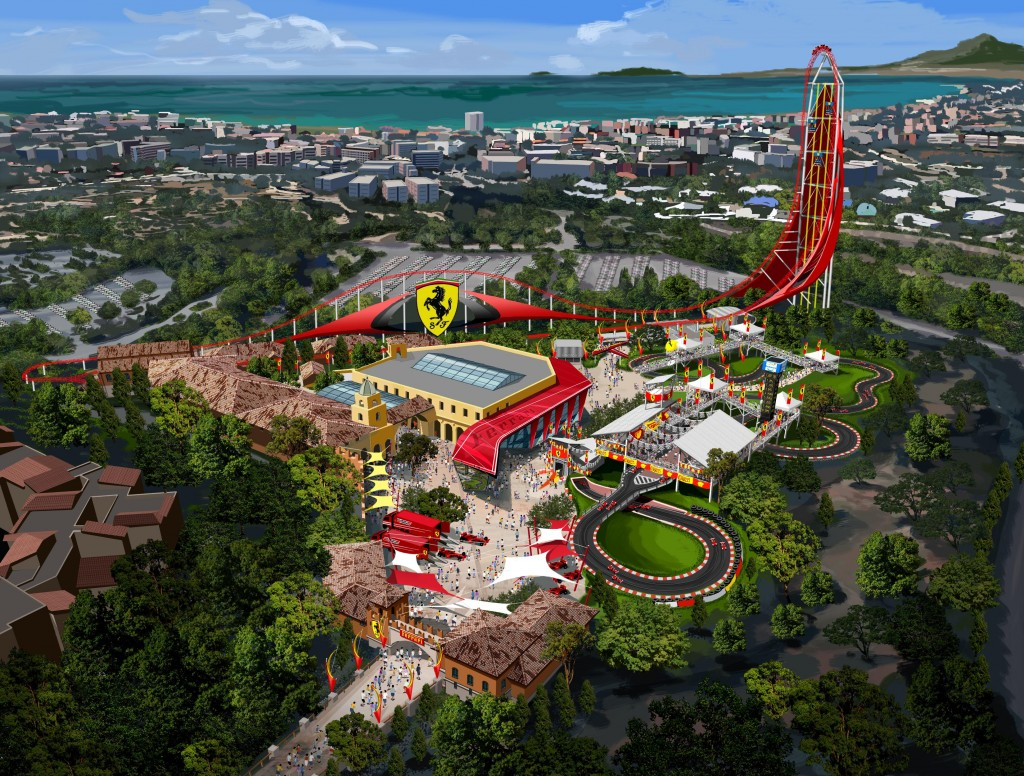 Proposed 75,000-square-metre Ferrari Land.