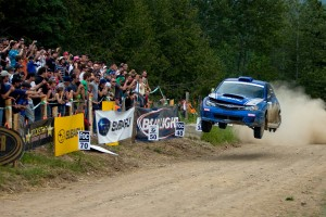 Patrick Richard wows the crowd at Rally Baie Des Chaleurs. Photo: Rocket Rally Racing.