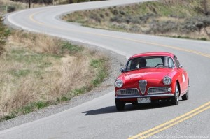 1959 Alfa Romeo Giulietta takes to the road in the Hagerty Spring Thaw Classic.