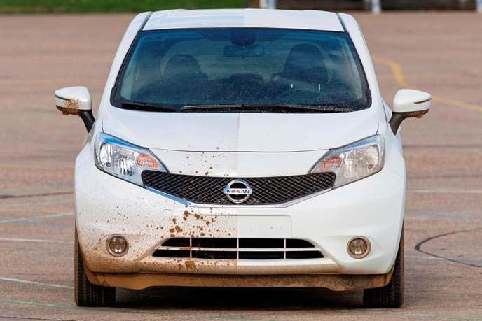 European model Nissan Note is first car to trial paint which could make car washes obsolete.
