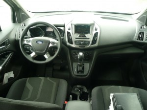 Comfortable car-like cockpit is similar to that in the Ford Focus and C-Max.