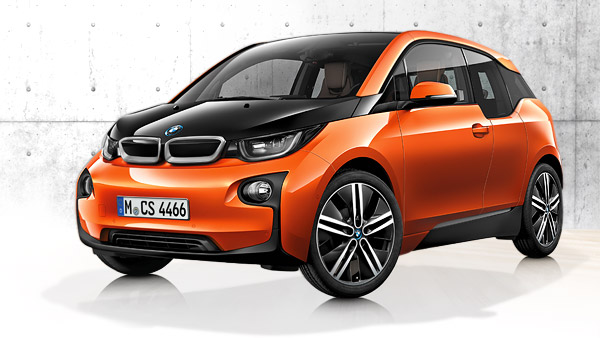 BMW i3 is a four-door, electric car.