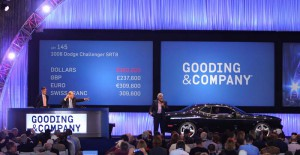 Jay Leno's 2008 Dodge Challenger SRT8 generated $565,625 in contributions to the USO. Image copyright and courtesy of Gooding & Company. Photo by Jensen Sutta