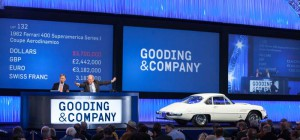 1962 Ferrari 400 Superamerica Series I Coupe Aerodinamico, sold for $4,070,000 at Gooding's January 2015 Scottsdale Auction. Image copyright and courtesy of Gooding & Company. Photo by Jensen Sutta
