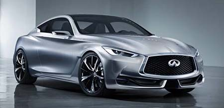 Infiniti Q60 Concept. A two-door concept for a future sports coupe.