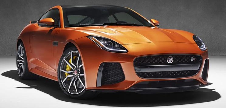 Jaguar F-Type SVR--0 to 60 in 3.2 seconds.
