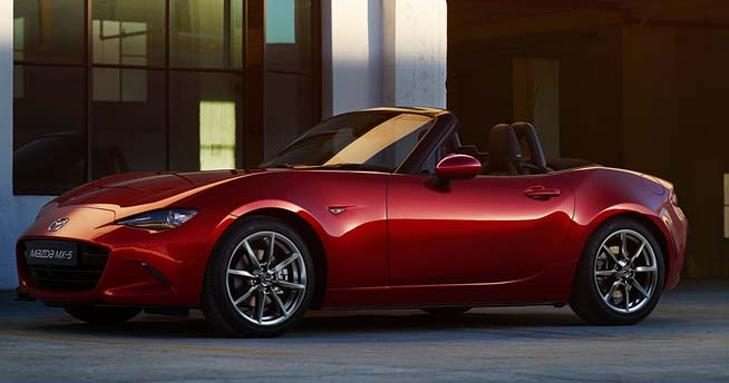 2016 Mazda MX-5 vying for World Car of the Year honours along with Audi A4 Sedan / Audi A4 Avant and Mercedes-Benz GLC.