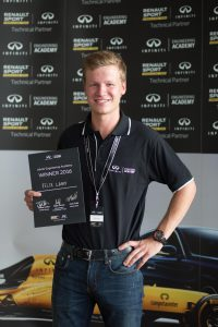 21-year-old McGill University student Felix Lamy awarded a one-year placement with Infiniti Motor Company and the Renault Sport Formula One Team. (CNW Group/Infiniti)
