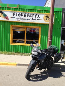 The Canadian melting pot of cultures—a Caribbean restaurant in the Yukon. Photo: Jeremy Stewart
