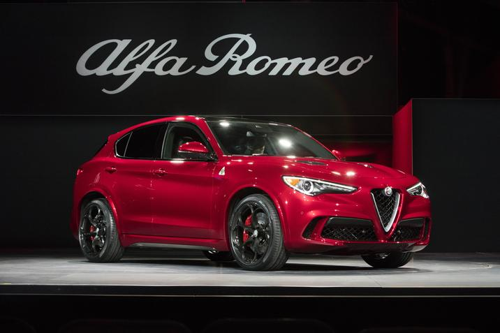 2018 Alfa Romeo Stelvio highlights Alfa Romeo's performance and motorsport expertise with a Ferrari-derived 505-horsepower engine.