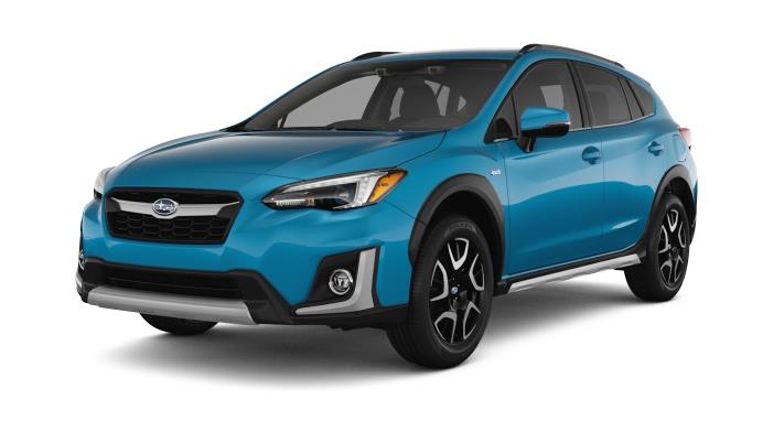 Exclusive to the 2019 Crosstrek Hybrid is a striking new exterior color, Lagoon Blue Pearl, one of four available hues.