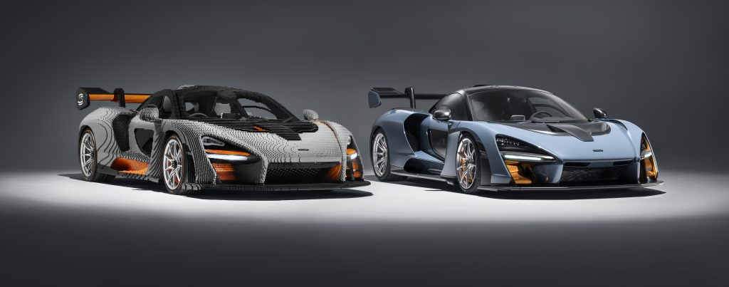 LEGO version and the real McLaren Senna.