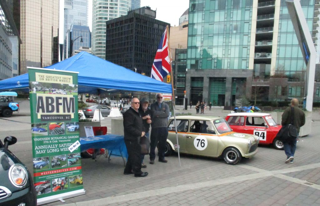 The Jack Poole Olympic Plaza was filled with 25 classic and new Minis celebrating the 60th anniversary of the brand. hoto: Western Driver.