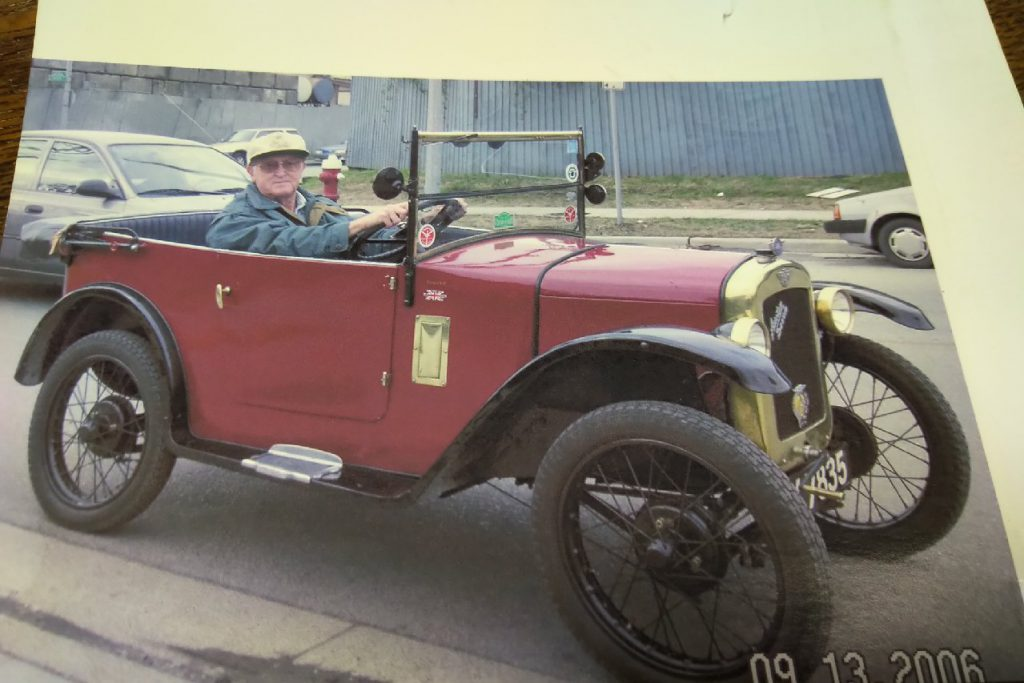 Richard Johns in an Austin Seven.