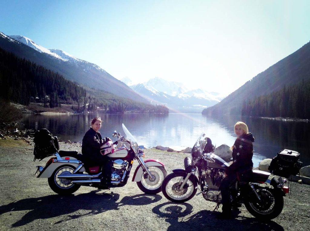 Female riders at Duffy Lake, BC, prepare for the   14th edition of International Female Ride Day (IFRD).
